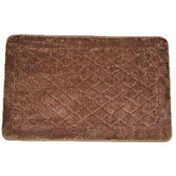Solid Brown Memory Foam 20 x 32 Bath Mat