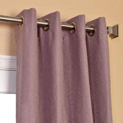 Exclusive Fabrics Mauve Linen Blend Grommet Curtain Panel