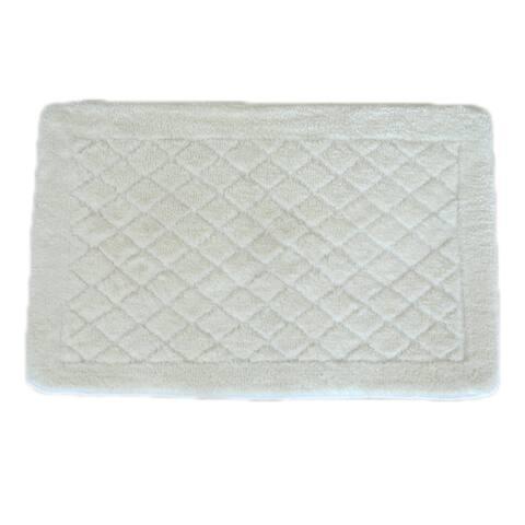"Solid White Memory Foam 20 x 32 Bath Mat - 1'8"" x 2'8"""