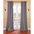 Exclusive Fabrics Weathered Grey Linen Blend Grommet Curtain Panel
