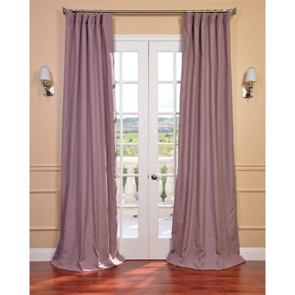 Exclusive Fabrics Mauve Linen Blend Curtain Panel