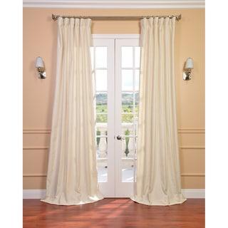 Exclusive Fabrics Cream Linen Blend Curtain Panel