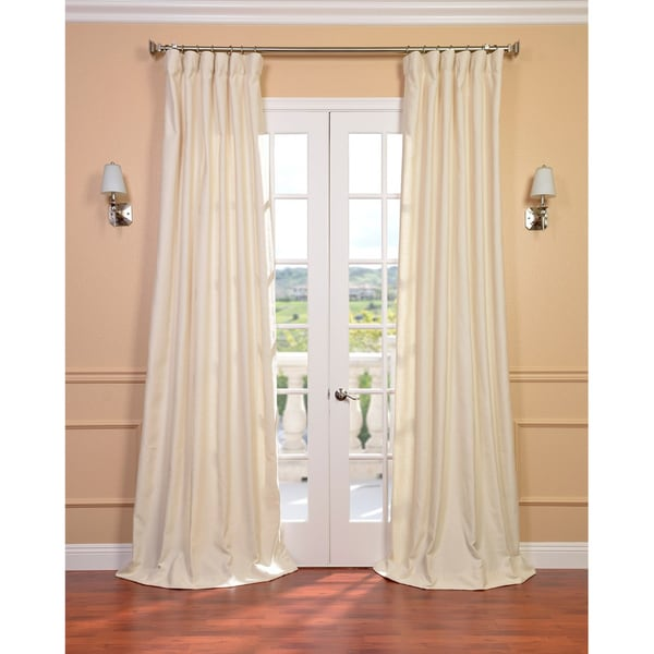 Exclusive Fabrics Cream Linen Blend Curtain Panel