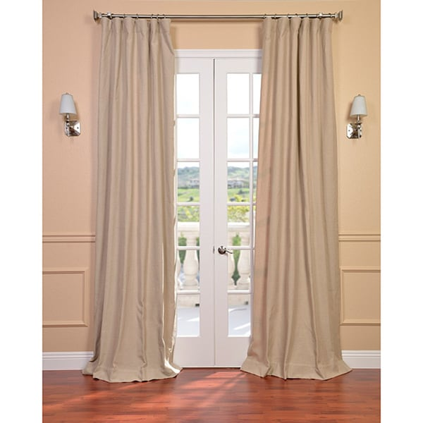 Exclusive Fabrics Natural Linen Blend Curtain Panel