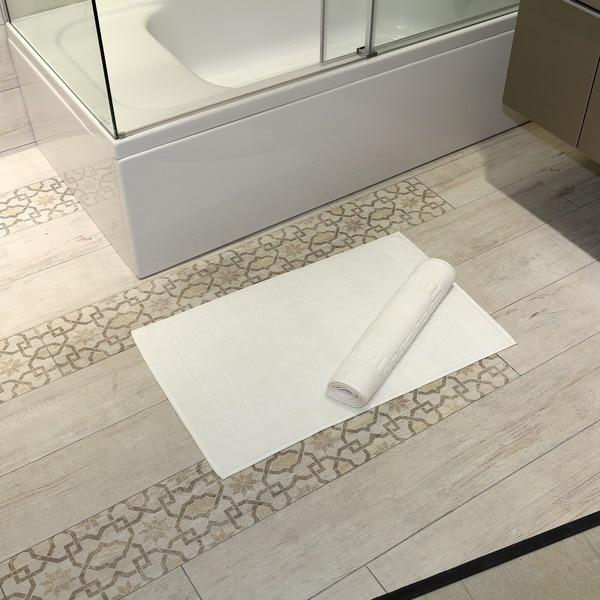 Authentic Hotel & Spa Greek Key Turkish Cotton Bath Mats (Set of 2)