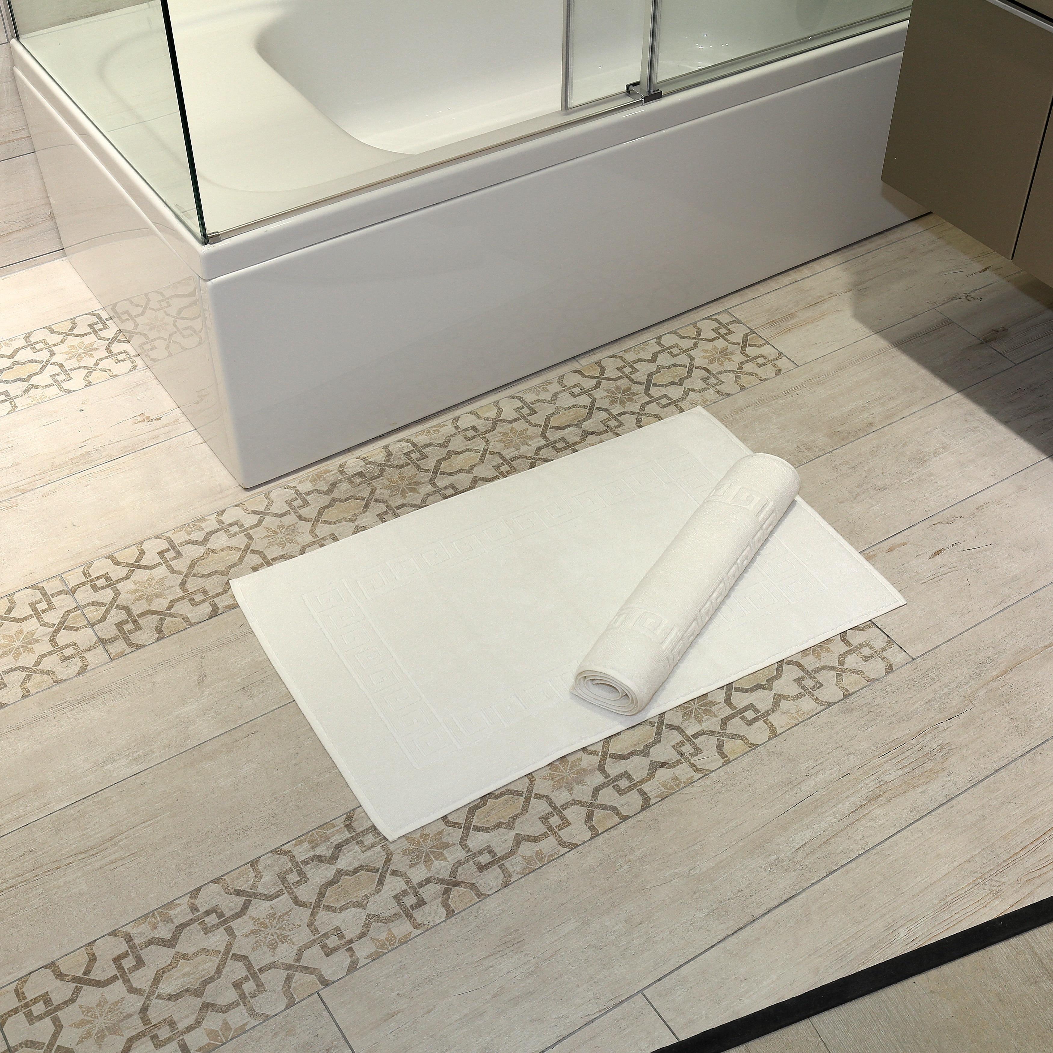 Authentic Hotel & Spa Greek Key Turkish Cotton Bath Mats ...