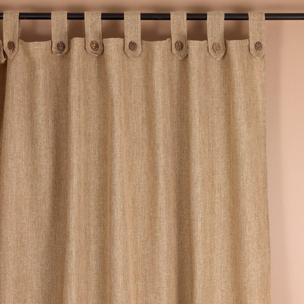 Classic Natural Tab Top 94 inch Curtain Panel