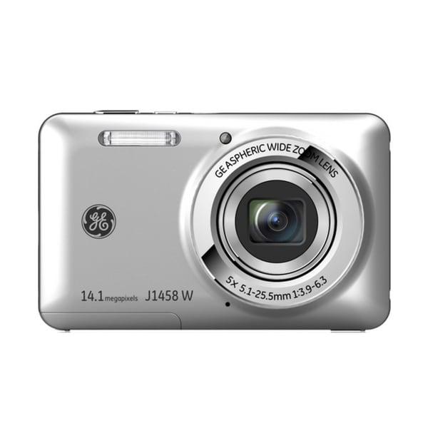GE J1458W 14MP Silver Digital Camera