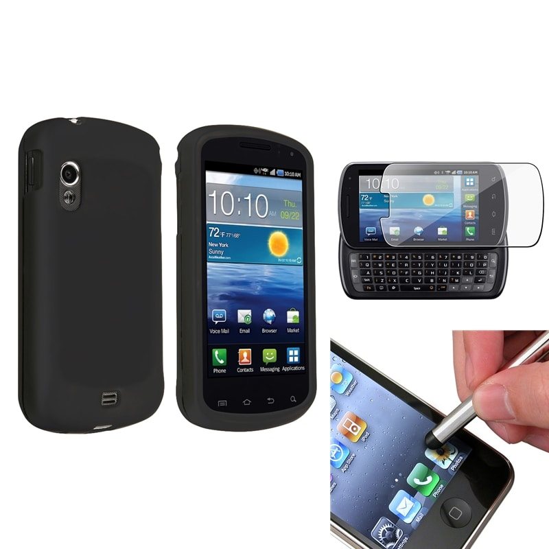 INSTEN Black Phone Case Cover/ Protector/ Stylus for Samsung Stratosphere i405
