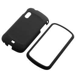 INSTEN Black Phone Case Cover/ Retractable Car Charger Set for Samsung Stratosphere i405