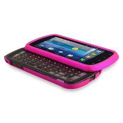 INSTEN Pink Phone Case Cover/ Protector/ Headset for Samsung Stratosphere i405