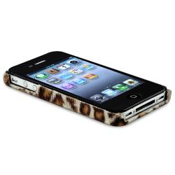 Purple/ Brown/ Gray/ Colorful Leopard Case for Apple iPhone 4/ 4S