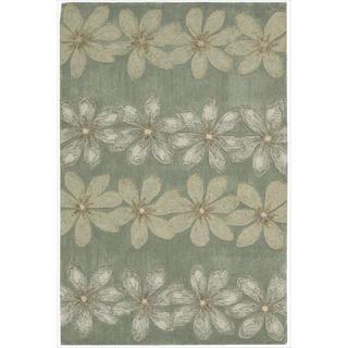 Nourison Hand-tufted Contours Floral Sage Rug (5' x 7'6)