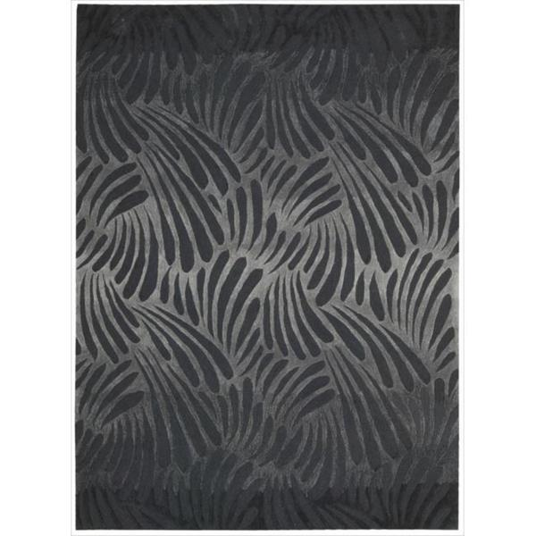 Nourison Hand-tufted Contours Charcoal Rug (5' x 7'6)
