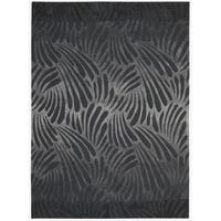 Nourison Hand-tufted Contours Charcoal Rug (5' x 7'6) - 5' x 7'6