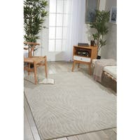 Nourison Hand-tufted Contours Striped Ivory Rug (5' x 7'6)