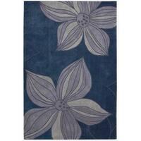 Nourison Hand-tufted Contours Floral Blue Rug - 5' x 7'6