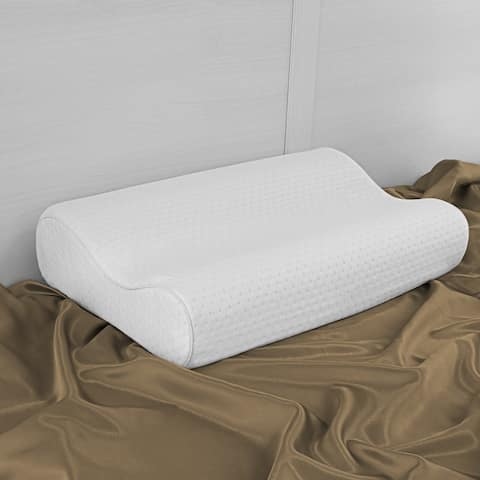 SwissLux Euro Style Oversized Contour Memory Foam Pillow