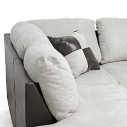 Mancini Modern Sectional Sofa and Ottoman Set