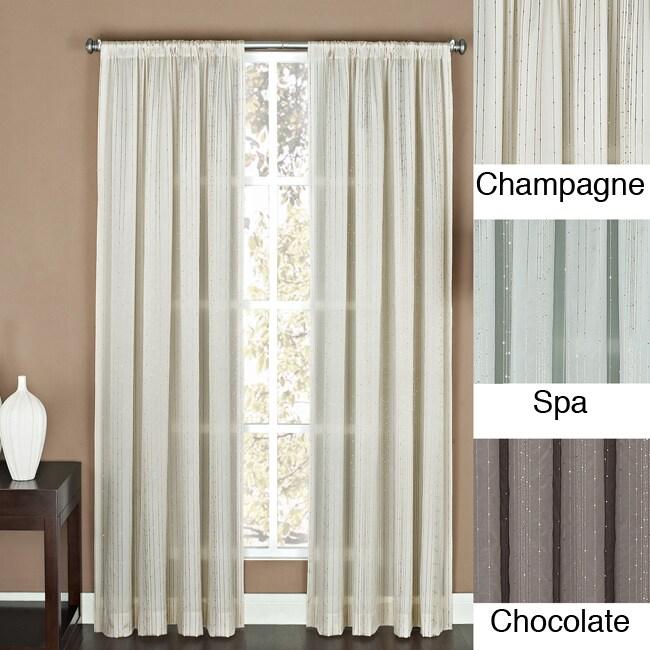 Tavonne Sequin Stripe Rod Pocket 84 inch Curtain Panel
