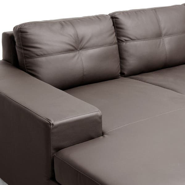 Pleasant Shop Corbin Brown Modern Sectional Sofa Free Shipping Caraccident5 Cool Chair Designs And Ideas Caraccident5Info