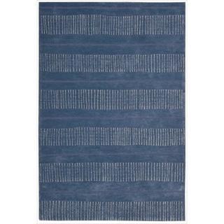 Nourison Hand-tufted Contours Striped Denim Rug (3'6 x 5'6)