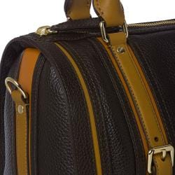 Burberry Medium Black/ Orange Leather Bowler Bag