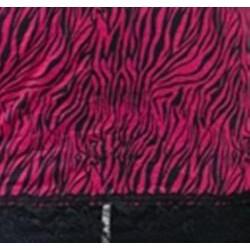24/7 Frenzy Women's Magenta Zebra Lace Trim Camisole