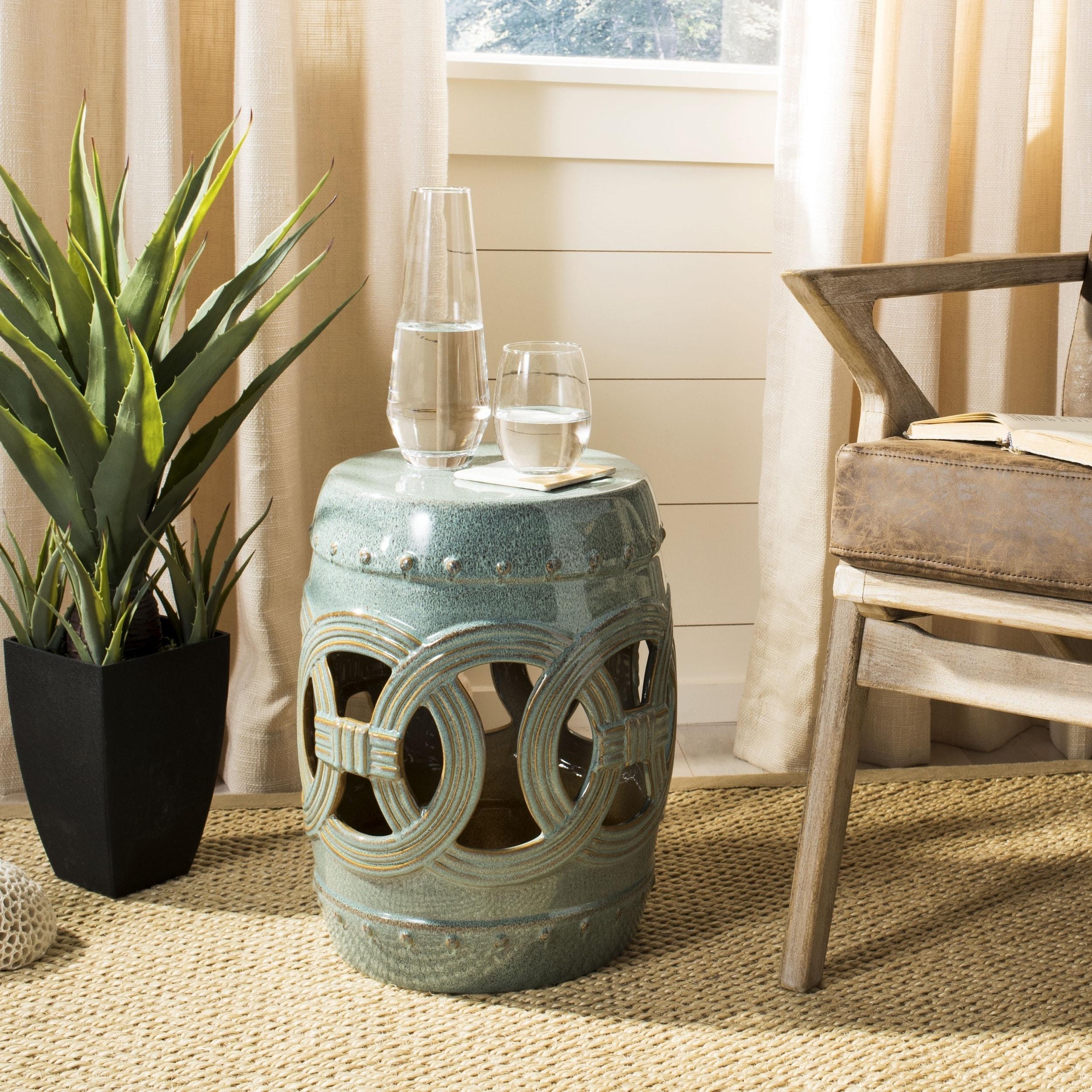 garden orange glaze ceramic living pineapple stool with colonial shop burnt stools seven outdoor
