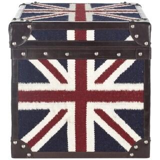 Safavieh Treasures UK Union Jack Square Storage Trunk