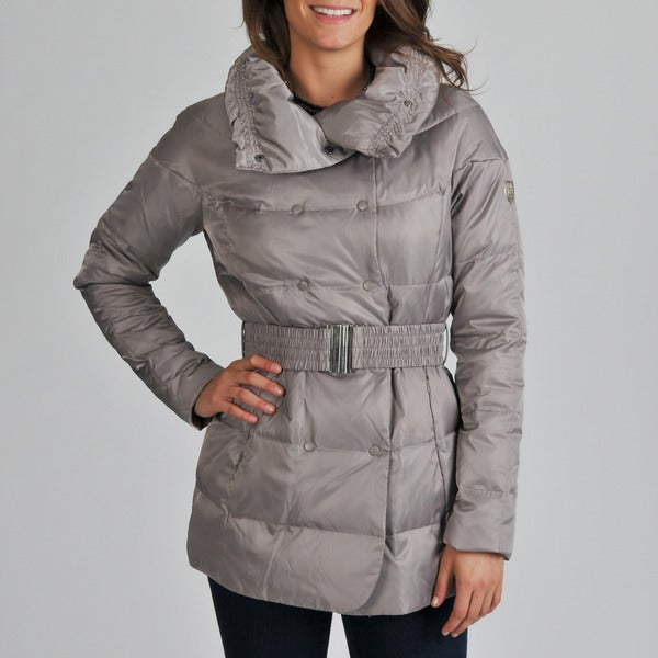 Vince Camuto Women's Dove Puffy Funnel Neck Coat