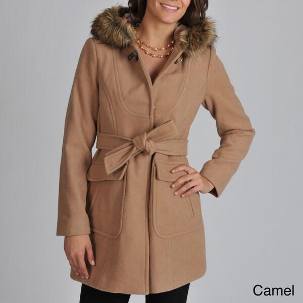 Vince Camuto Women's Faux Fur-trim Hooded Coat