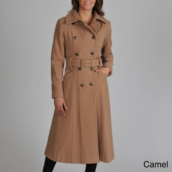 Vince Camuto Women's Wool-blend Belted Long Coat