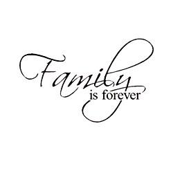 'Family is Forever' Vinyl Wart Art Decor Lettering