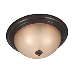 Jubilee 3 Light Cocoa Flush Mount