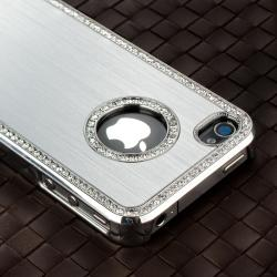 Silver Bling Case/ Mini Stylus/ Protector for Apple iPhone 4/ 4S - Thumbnail 2