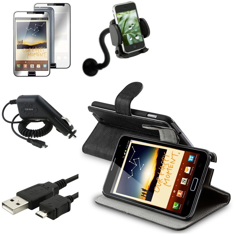 Case/Protector/Cable/Chargers/Holder Bundle for Samsung Galaxy Note N7000