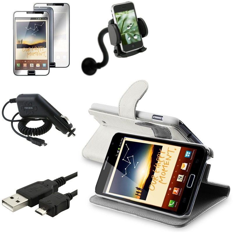 Case/Protector/Cable/Chargers/Holder Lot for Samsung Galaxy Note N7000