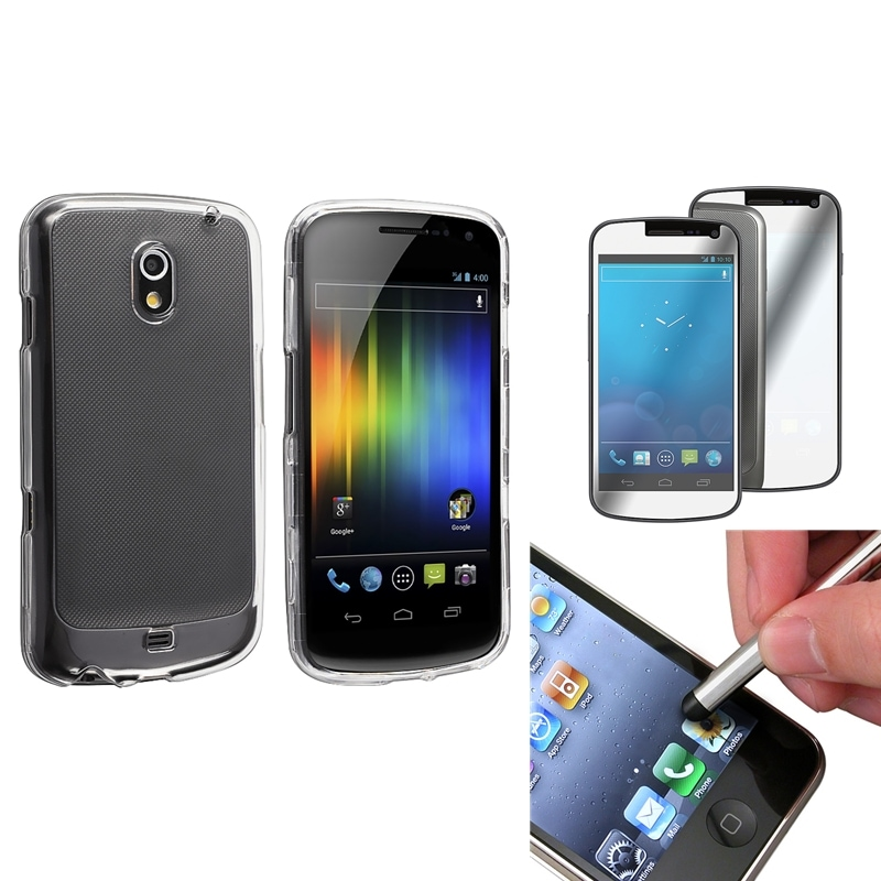 Clear Crystal Case/Protector/Stylus Set for Samsung Galaxy Nexus i9250