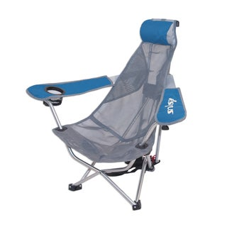 K Blue Mesh Backpack Chair