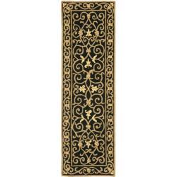 Safavieh Hand-hooked Chelsea Irongate Black Wool Rug (2'6 x 12')