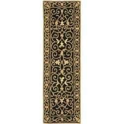 Safavieh Hand-hooked Chelsea Irongate Black Wool Rug (2'6 x 6')