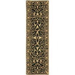 Safavieh Hand-hooked Chelsea Irongate Black Wool Rug (2'6 x 8')