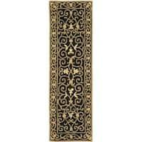 Safavieh Hand-hooked Chelsea Irongate Black Wool Rug (2'6 x 8') - 2'6 x 8'