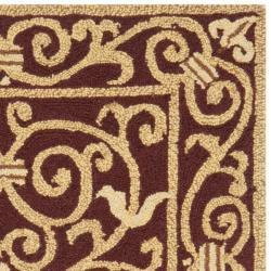Safavieh Hand-hooked Chelsea Irongate Burgundy Wool Rug (2'6 x 4') - Thumbnail 1