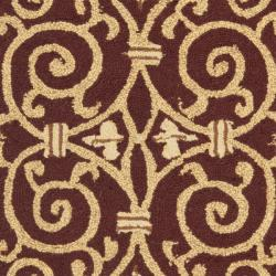 Safavieh Hand-hooked Chelsea Irongate Burgundy Wool Rug (2'6 x 4') - Thumbnail 2
