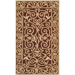 Safavieh Hand-hooked Chelsea Irongate Burgundy Wool Rug - 2'6 x 4' - Thumbnail 0