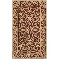 Safavieh Hand-hooked Chelsea Irongate Burgundy Wool Rug - 2'6 x 4'