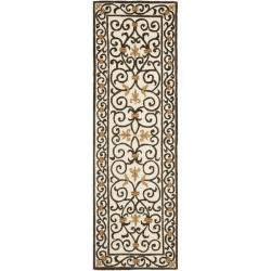 Safavieh Hand-hooked Chelsea Irongate Ivory Wool Rug (2'6 x 10')