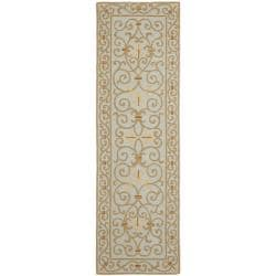 Safavieh Hand-hooked Chelsea Irongate Light Blue Wool Rug (2'6 x 8')